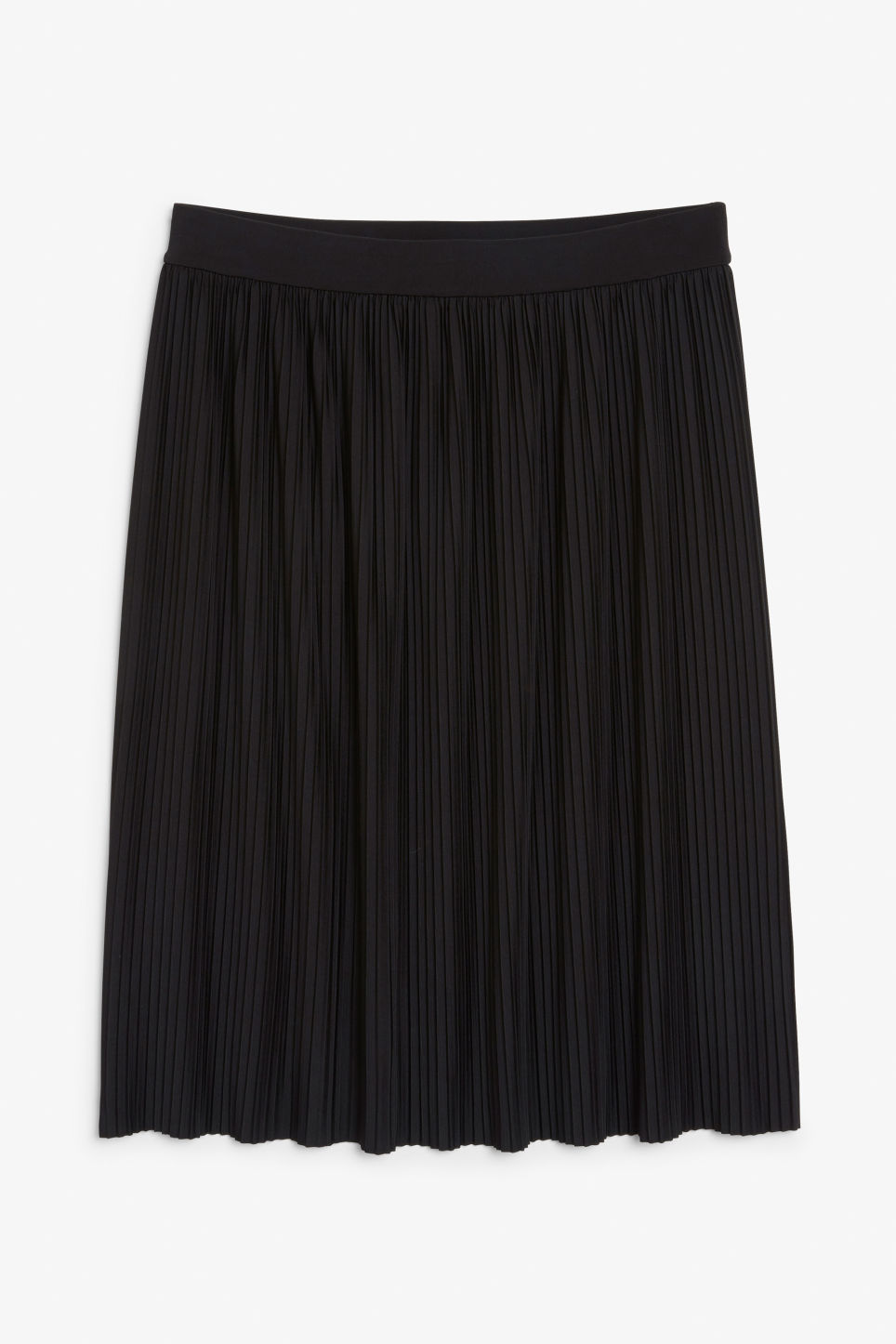 Front image of Monki pleaded mini skirt in black