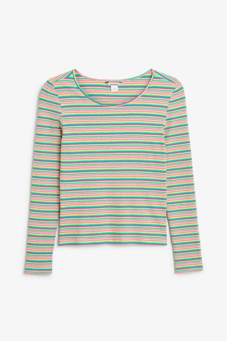 Front image of Monki long-sleeved top in green