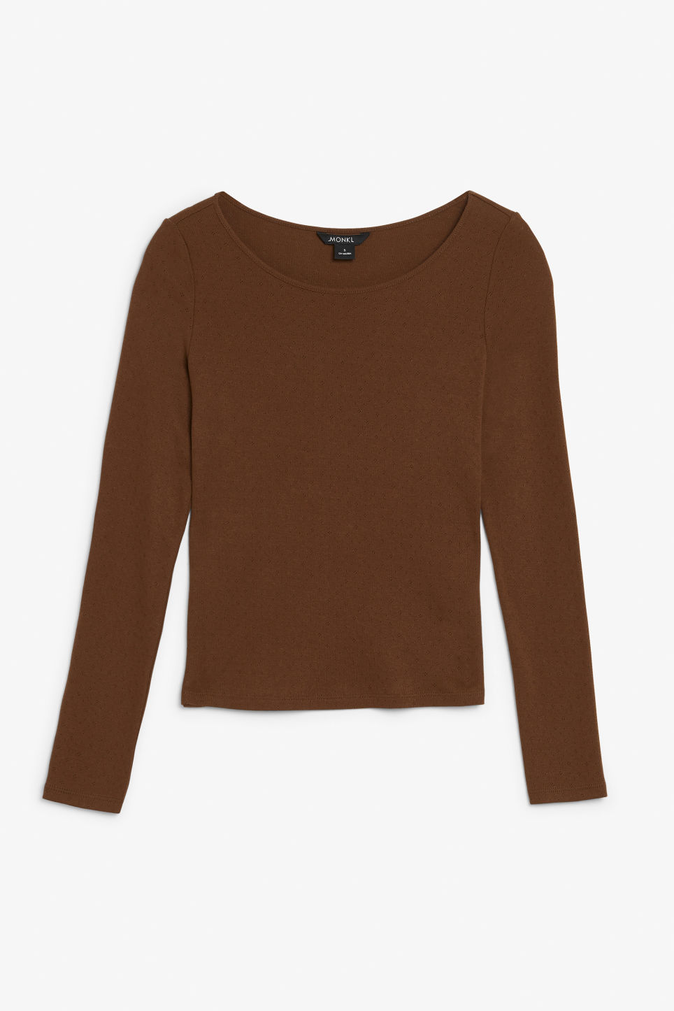 Front image of Monki long-sleeved top in brown