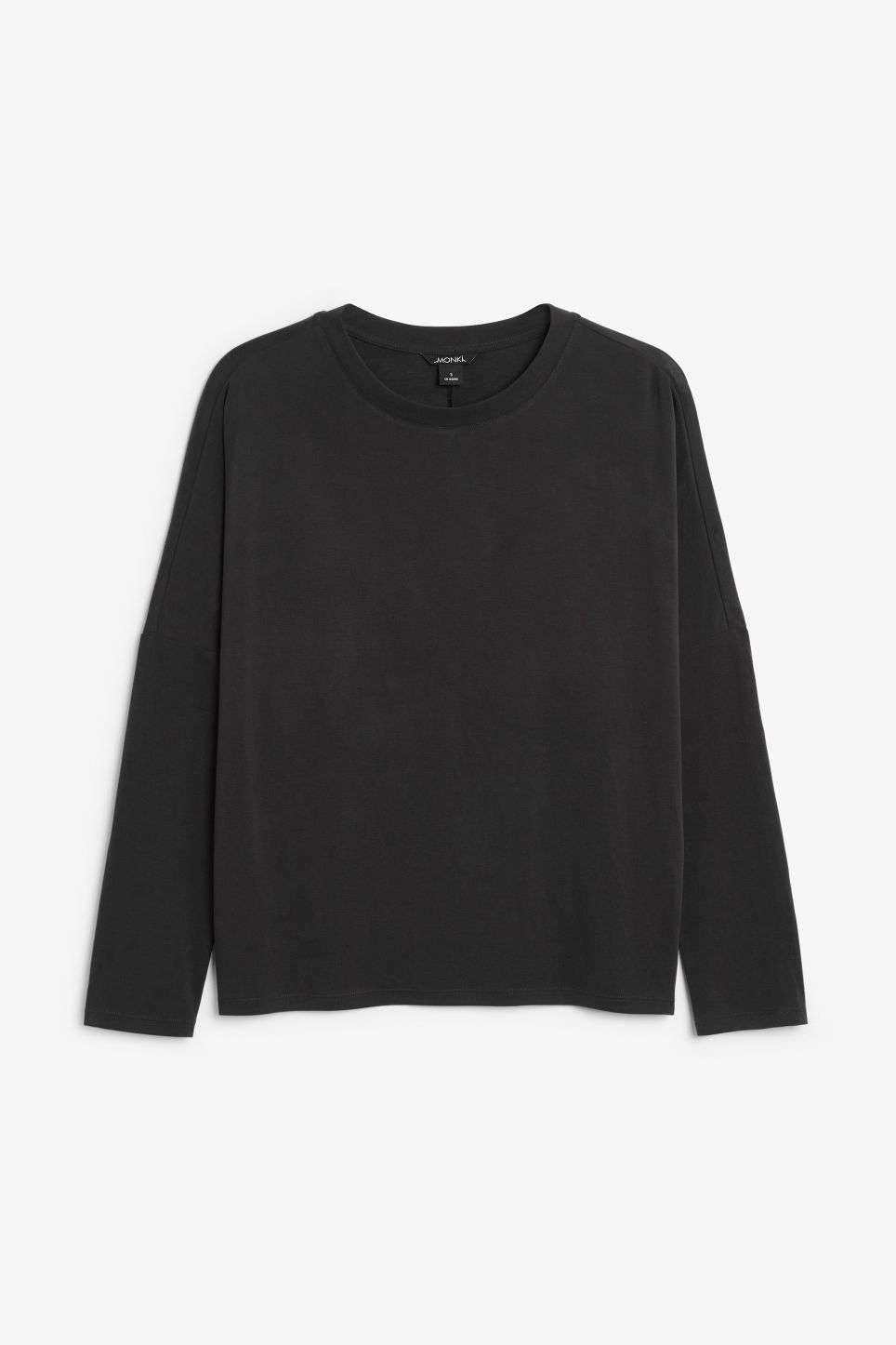 Front image of Monki super-soft top in black