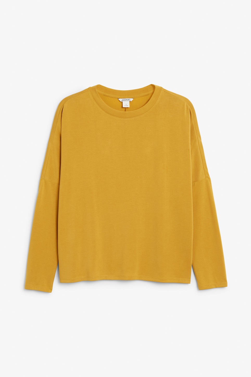 Front image of Monki super-soft top in yellow