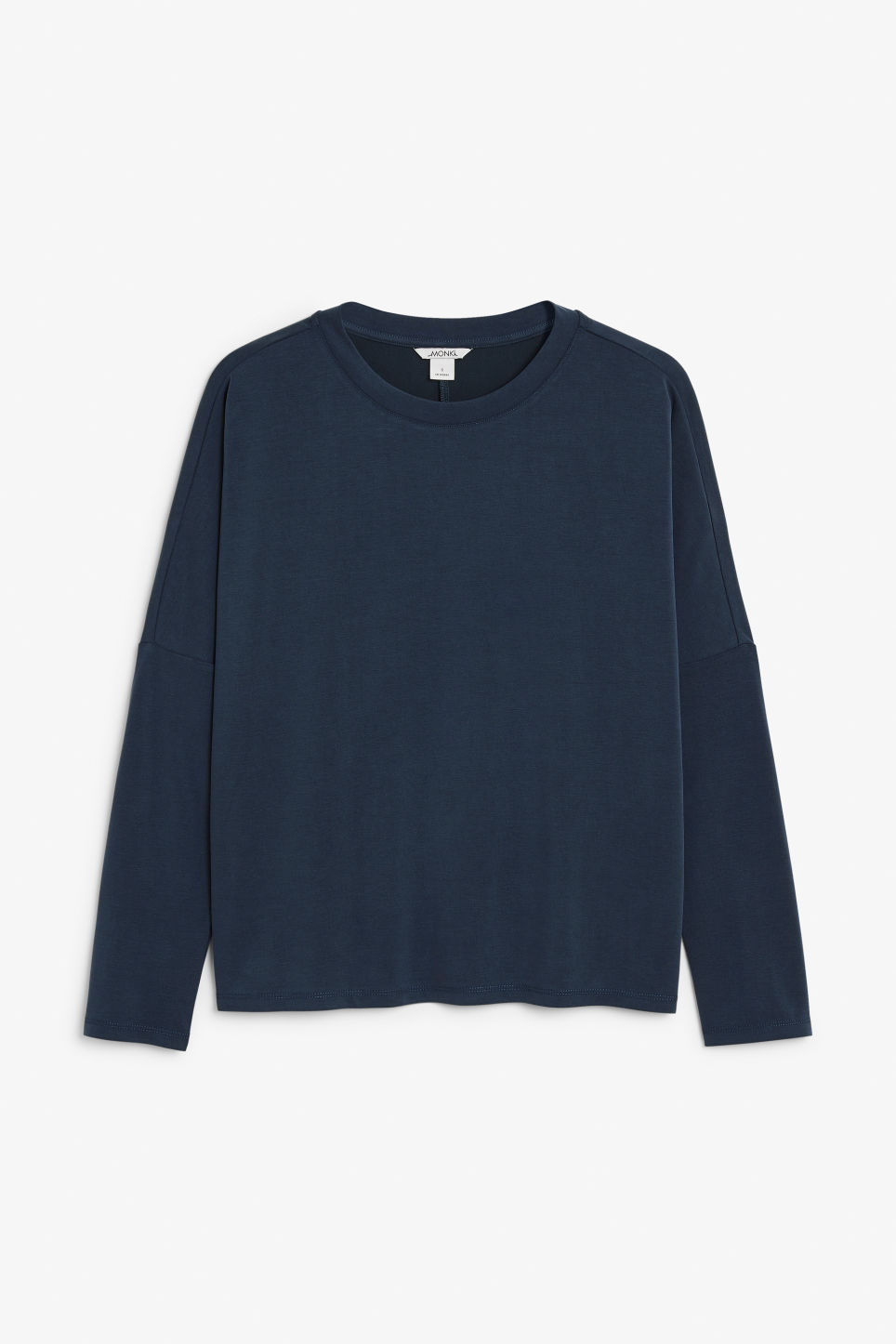 Front image of Monki super-soft top in blue