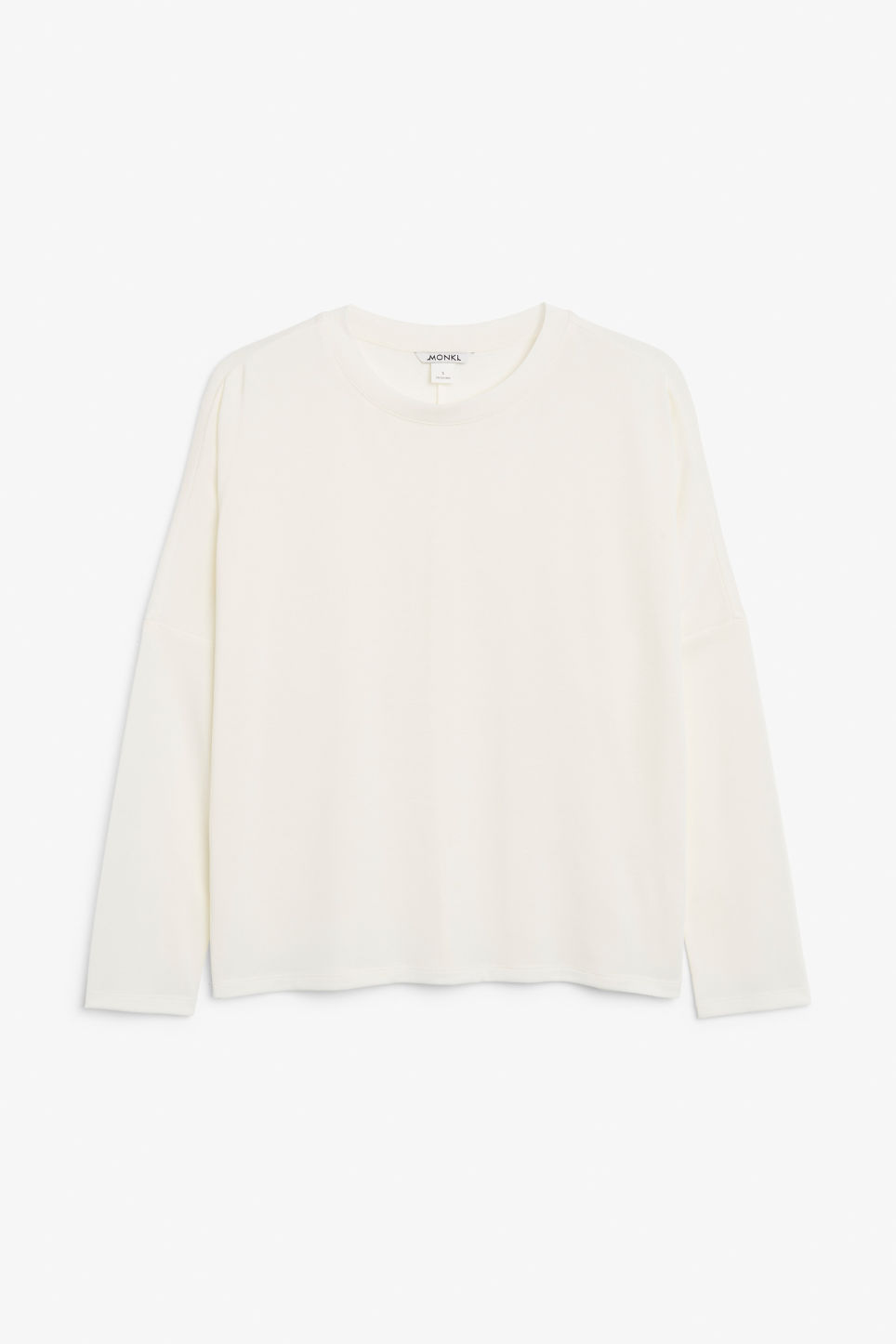 Front image of Monki super-soft top in white