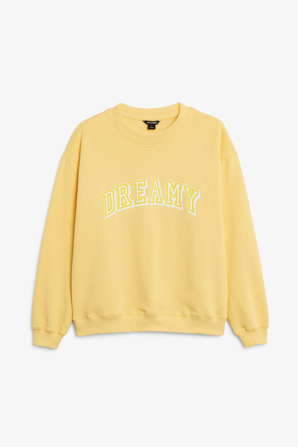 Front image of Monki loose-fit sweater in yellow