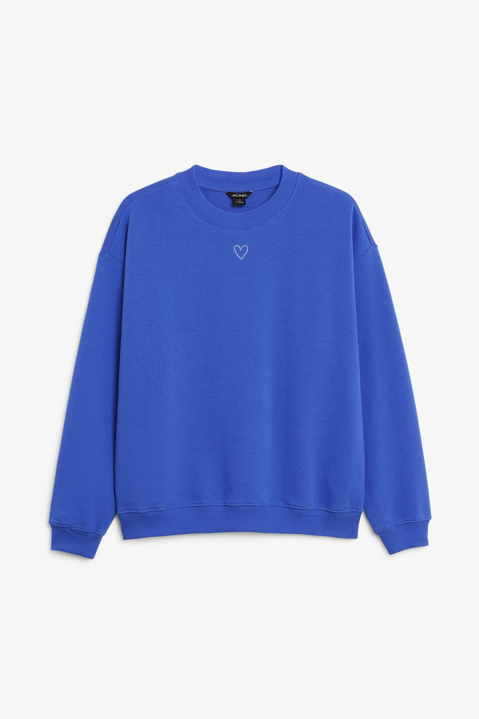 Front image of Monki loose-fit sweater in blue