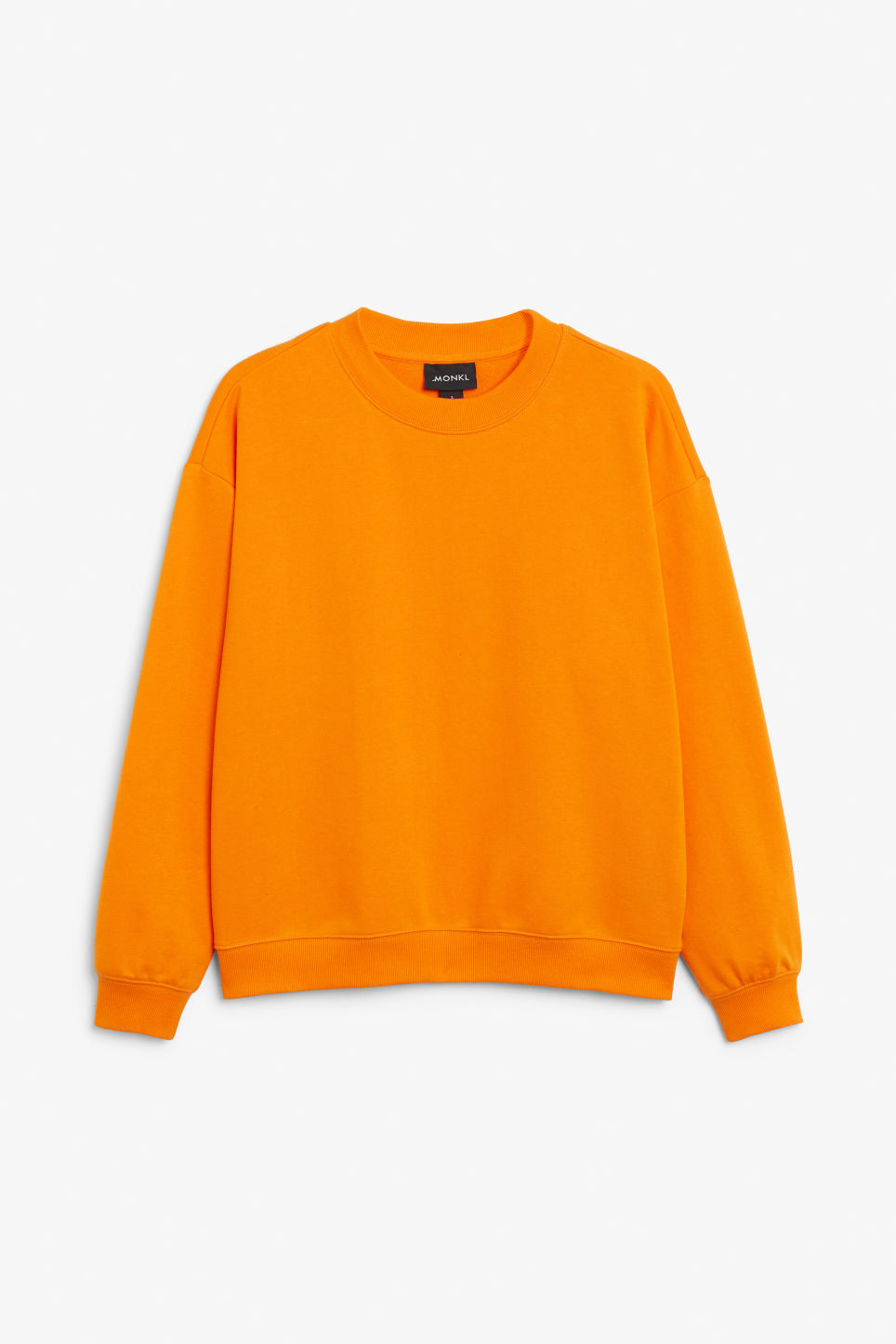 Front image of Monki loose-fit sweater in orange