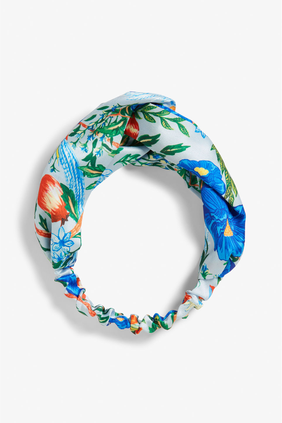 Front image of Monki monki headband in blue