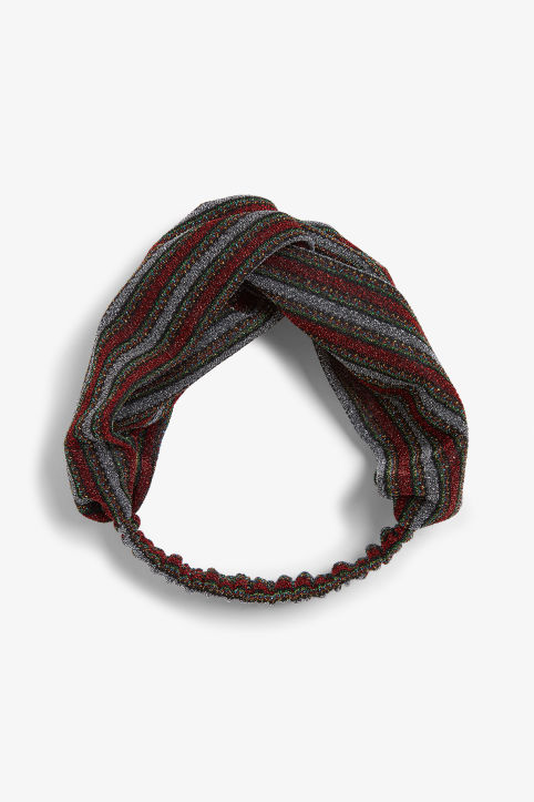 Front image of Monki monki headband in red