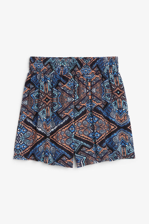 Front image of Monki flowy shorts in blue