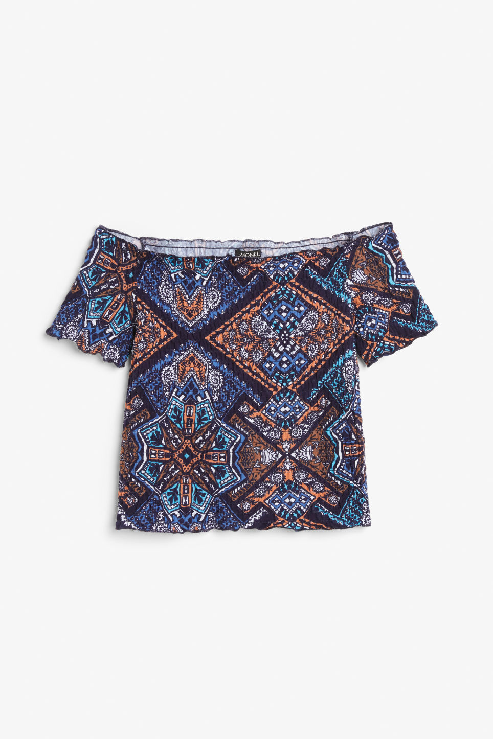 Front image of Monki cropped top in blue