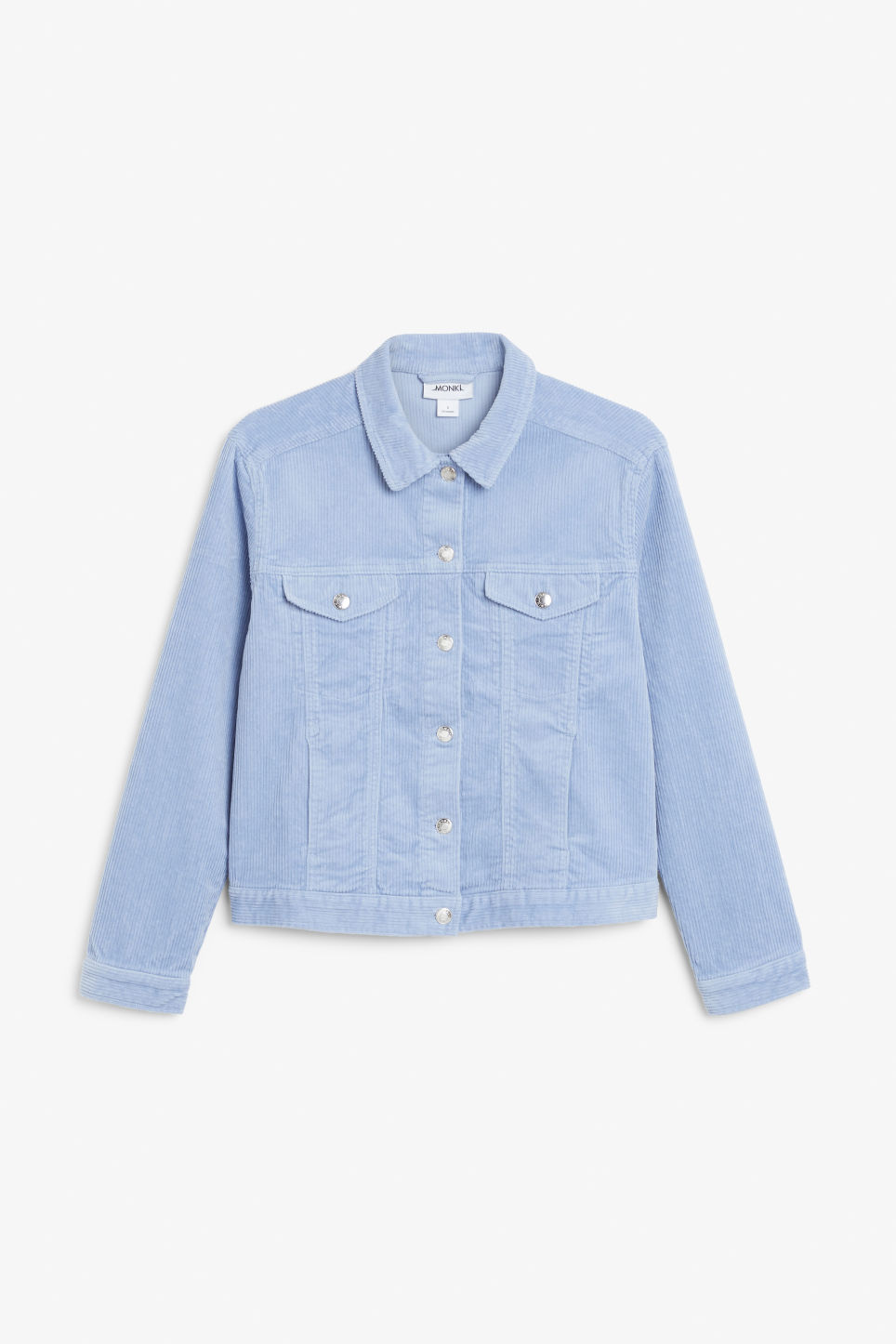 Front image of Monki short jacket in blue
