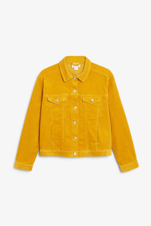 Front image of Monki short jacket in yellow