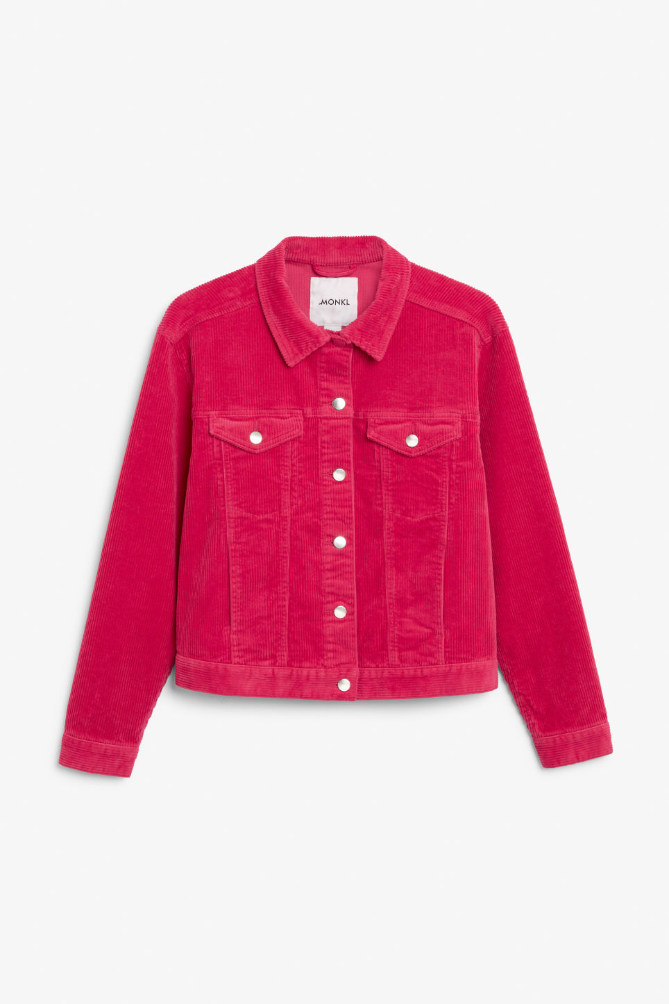 Front image of Monki short jacket in pink