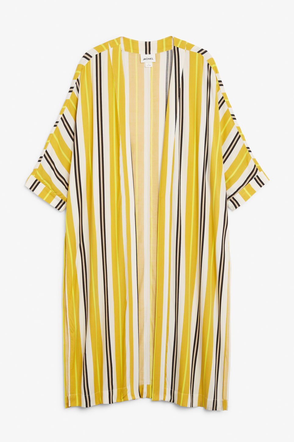 Front image of Monki flowy kaftan in yellow
