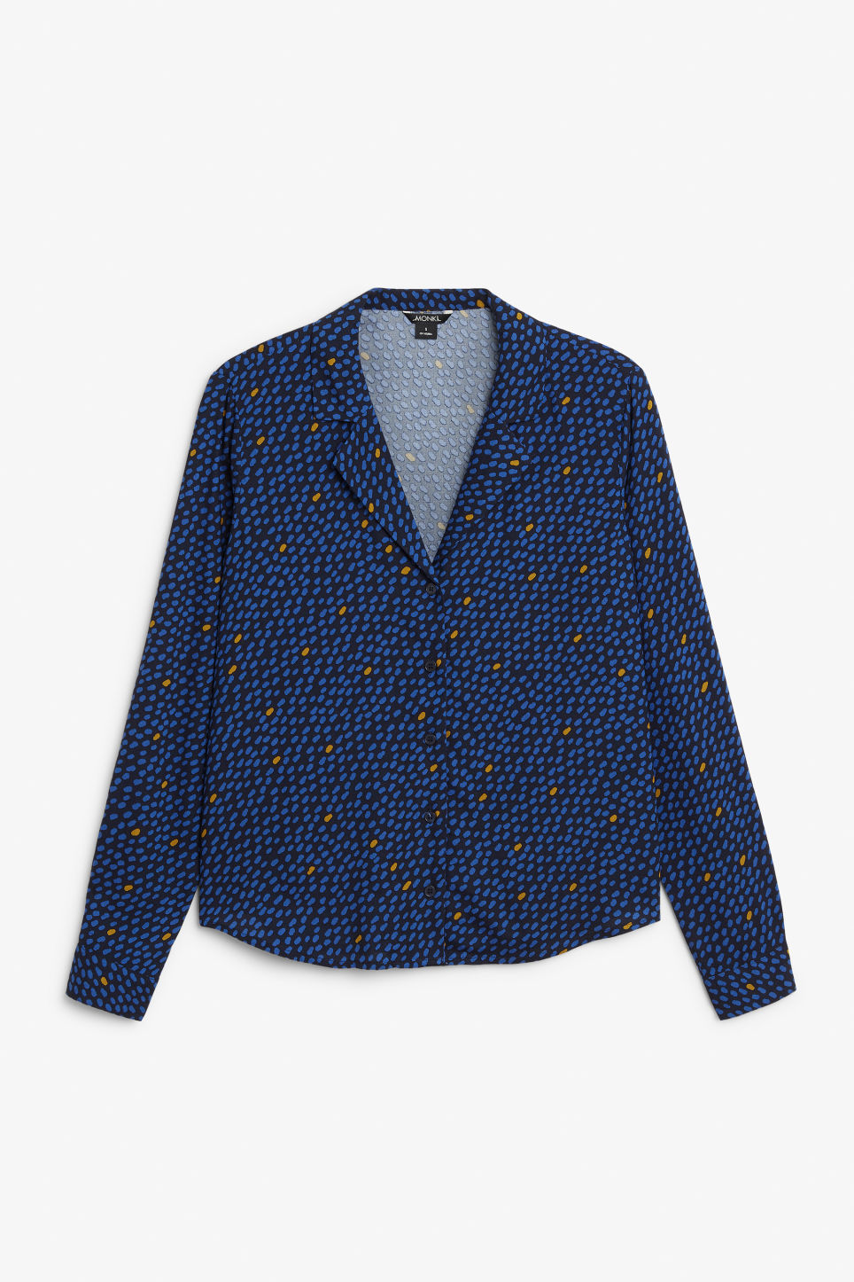 Front image of Monki pyjama shirt in blue