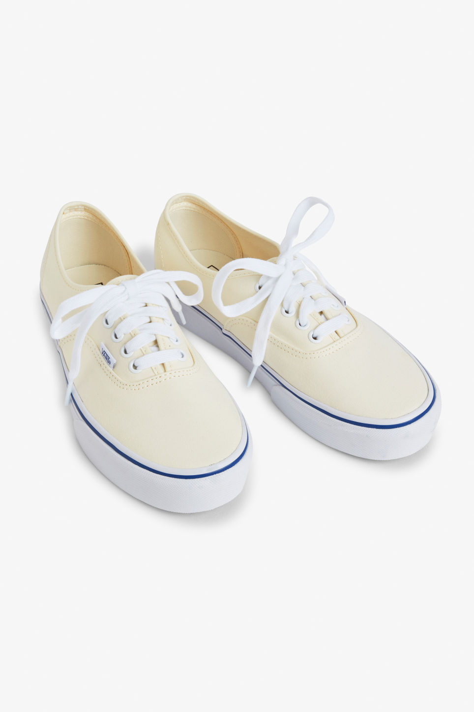 Front image of Monki vans authentic platforms 2.0 in white