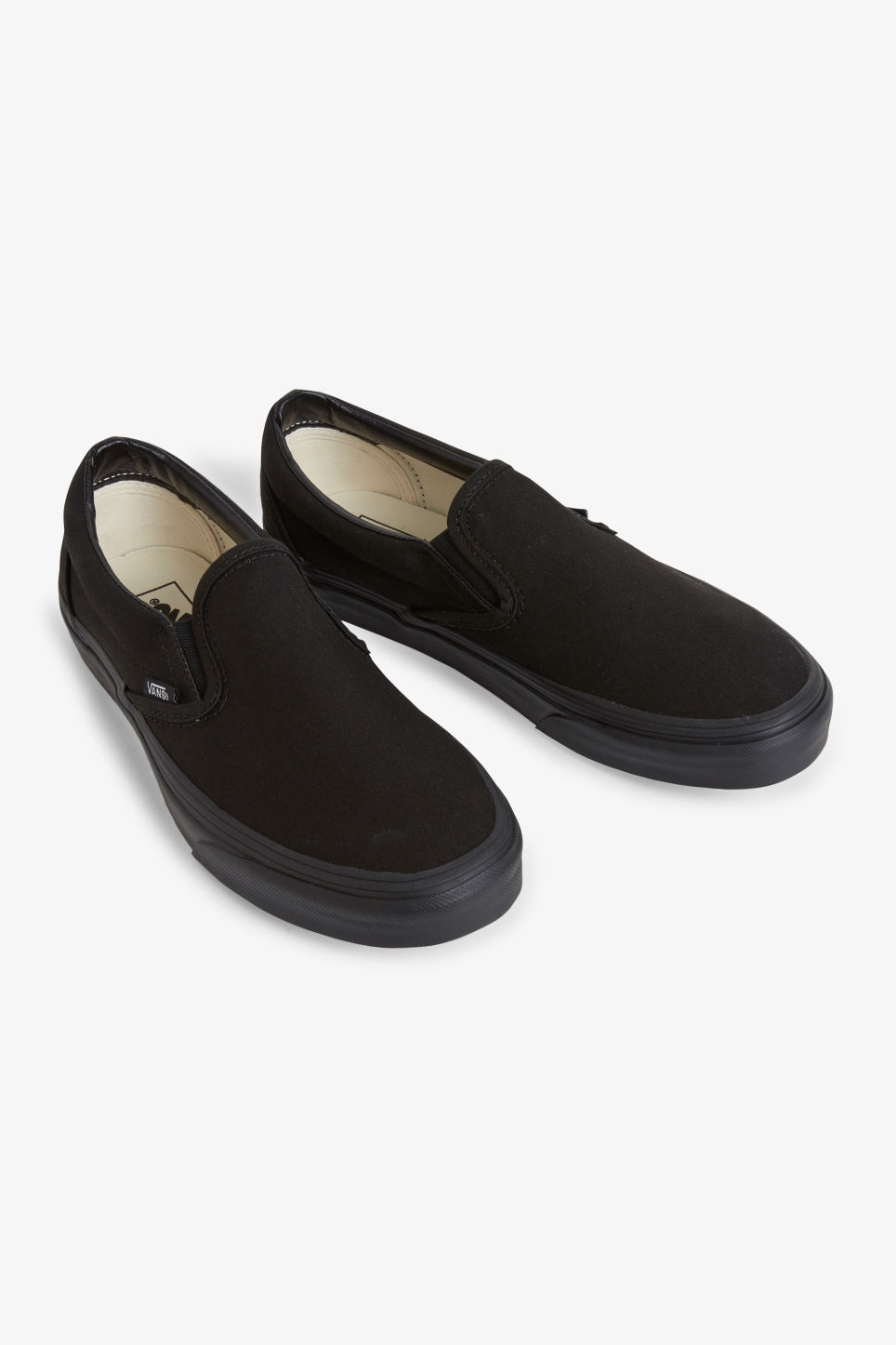 Front image of Monki vans slip on  in black