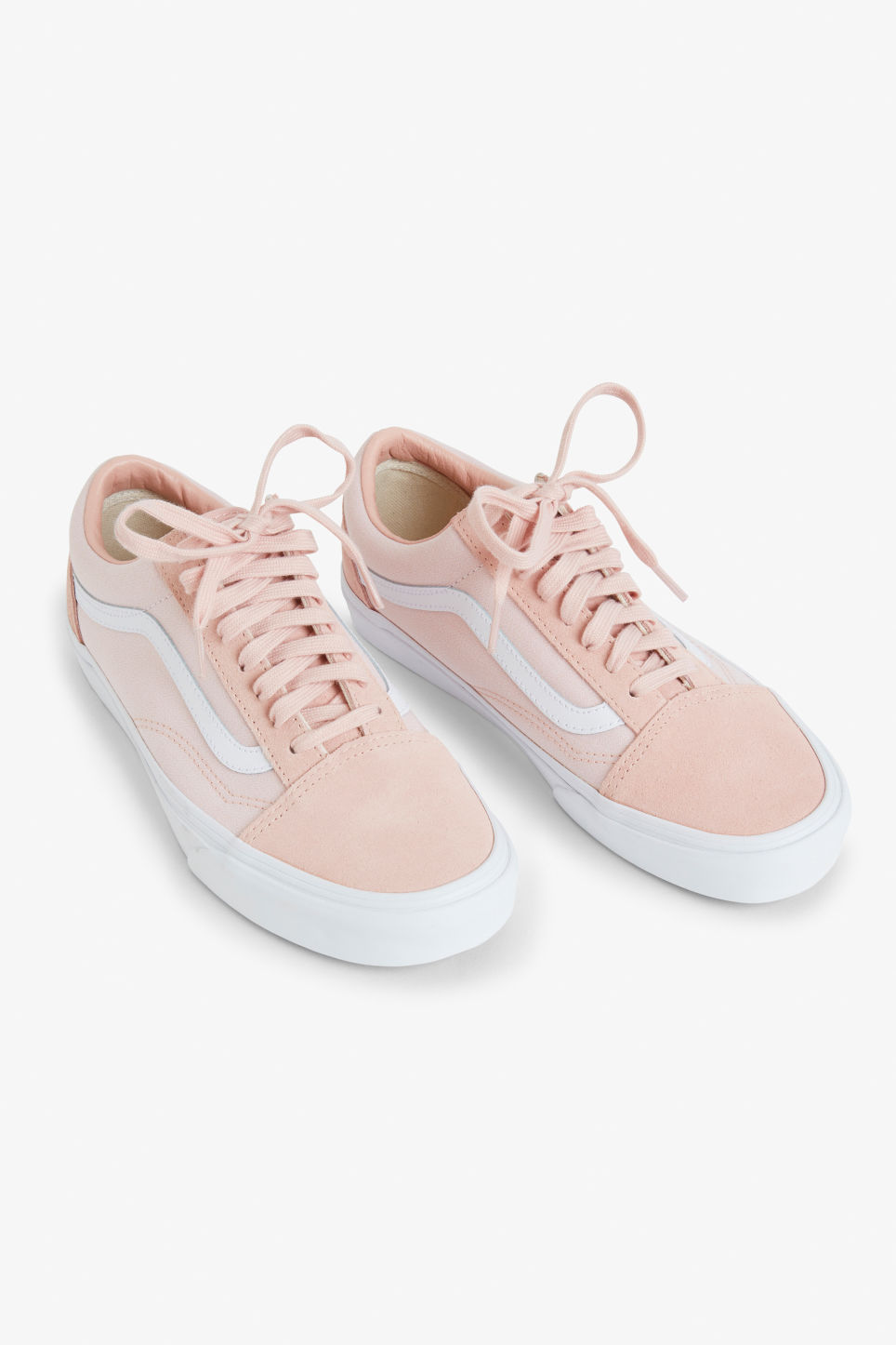 Front image of Monki vans old skool  in pink
