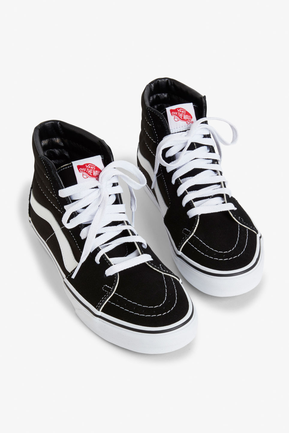 Front image of Monki vans sk8 hi in black