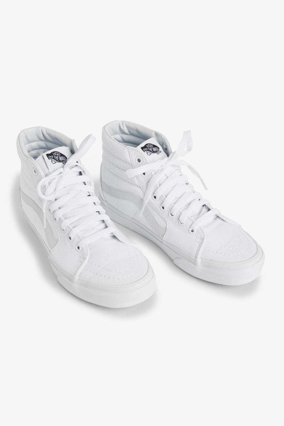 Front image of Monki vans sk8 hi in white