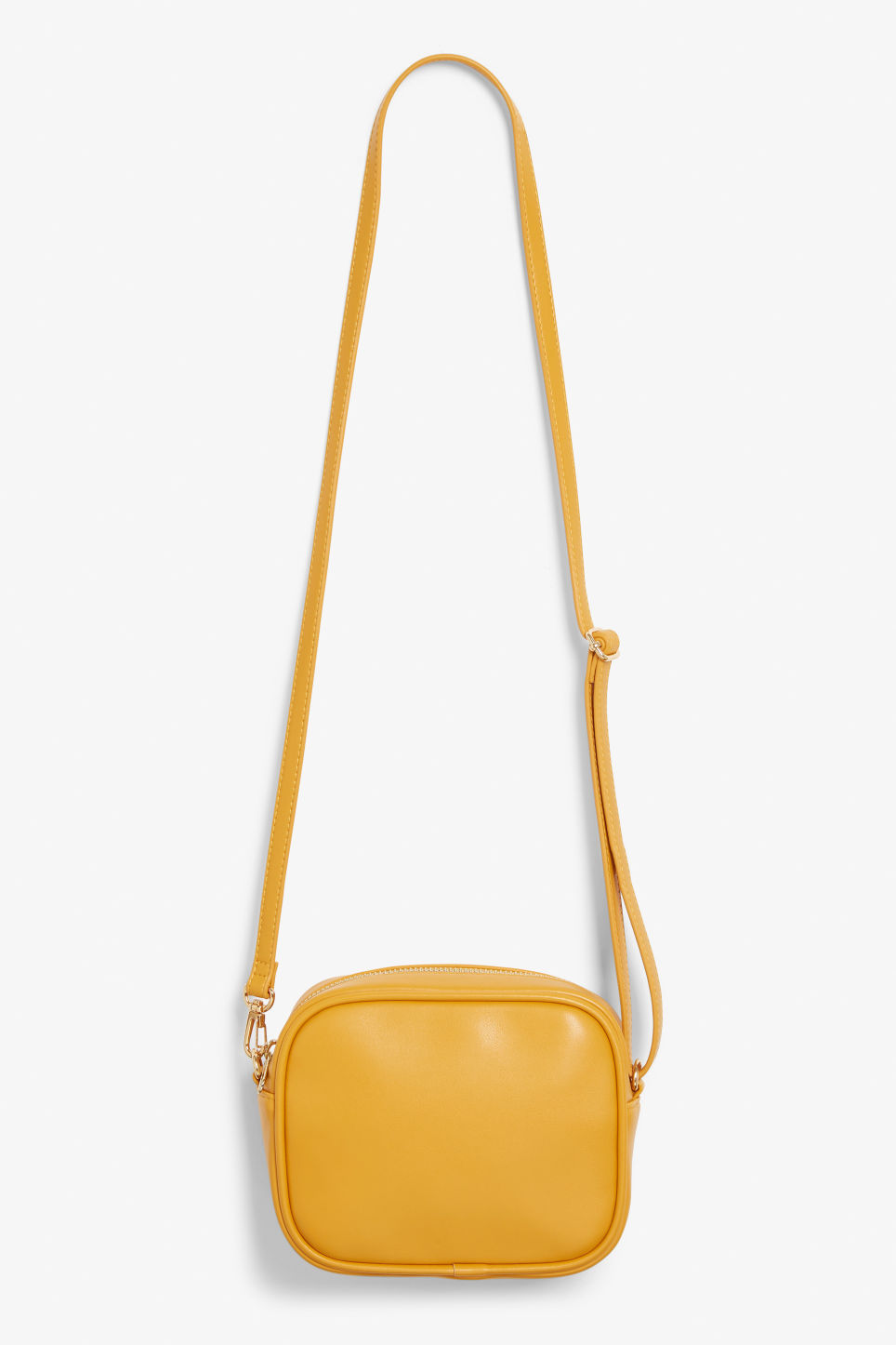 Front image of Monki cross shoulder bag in yellow