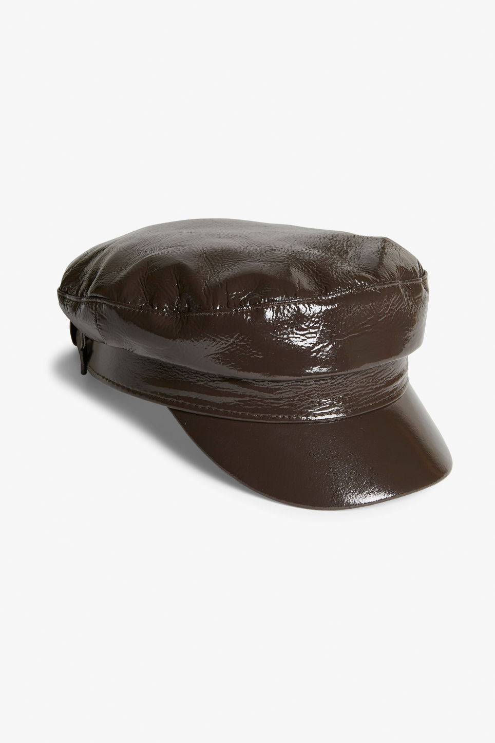 d328938c97697 Patent baker boy cap - Chestnut brown - Hats