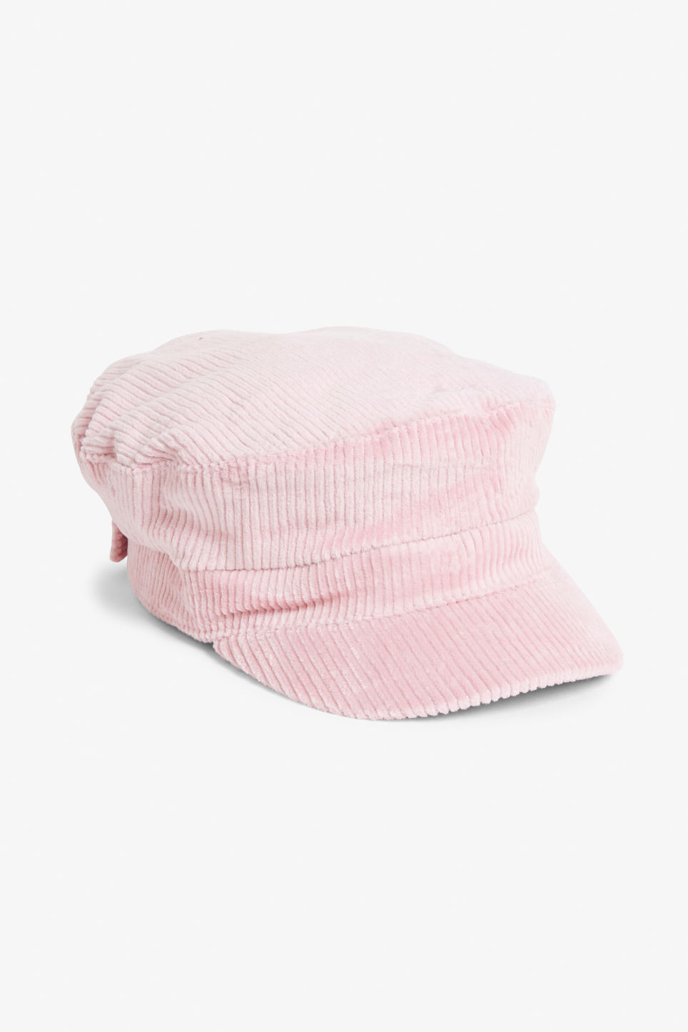 Front image of Monki baker boy hat in pink