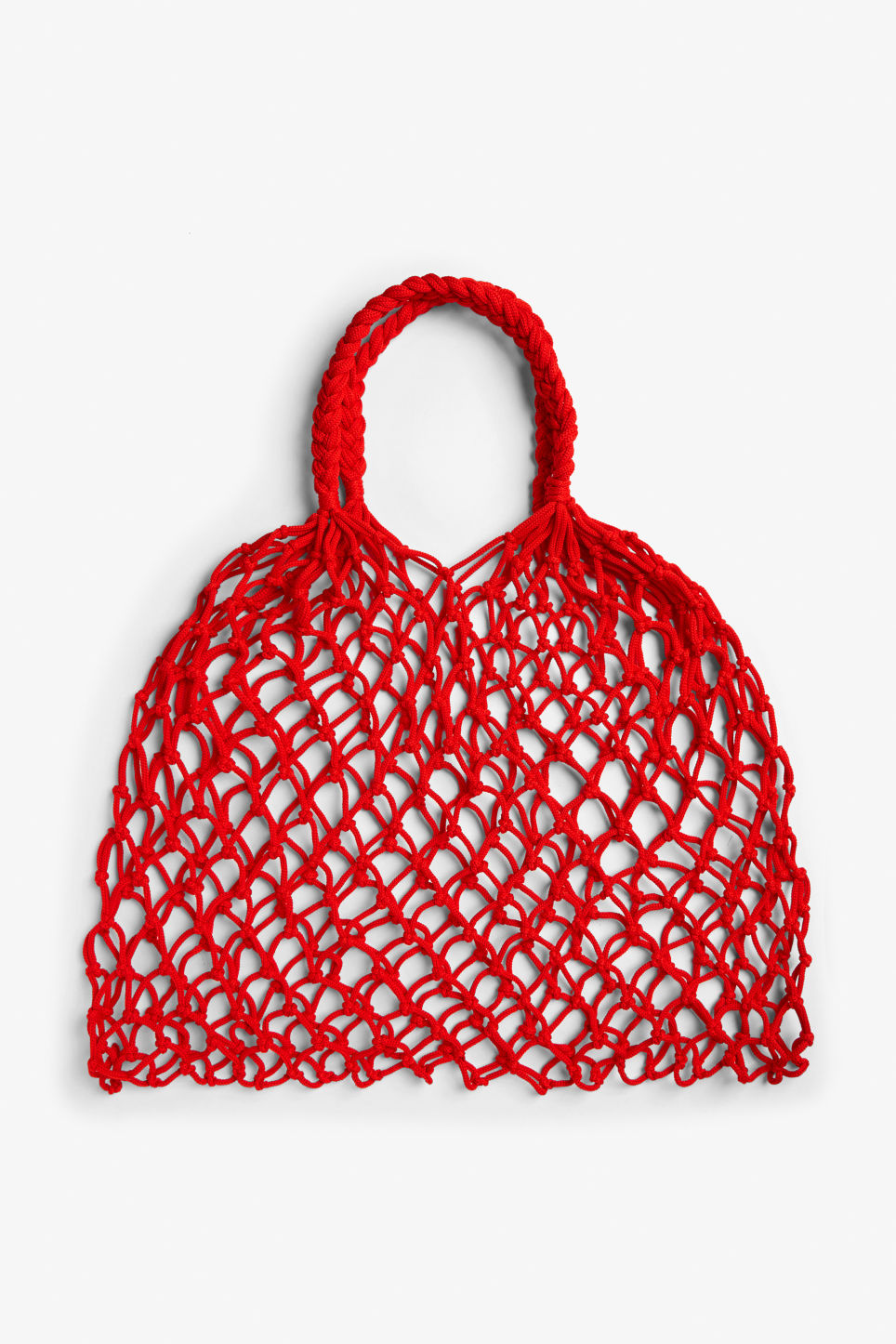 Front image of Monki net beach bag in orange