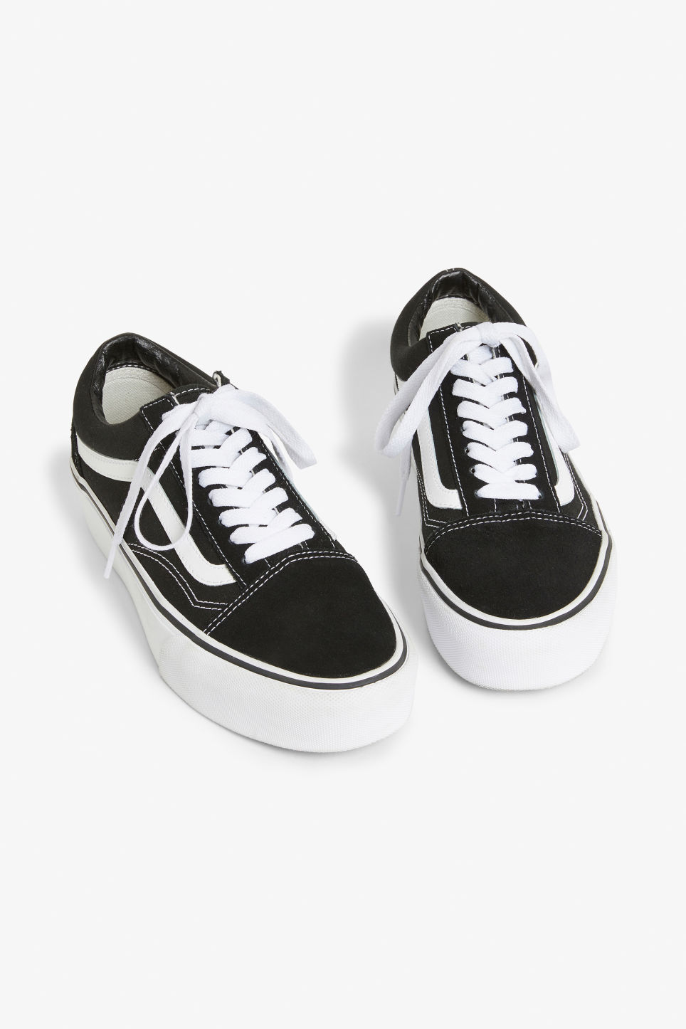 Front image of Monki vans old skool platforms  in black