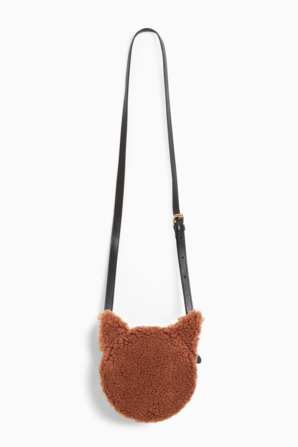 Front image of Monki cross shoulder cat bag in beige