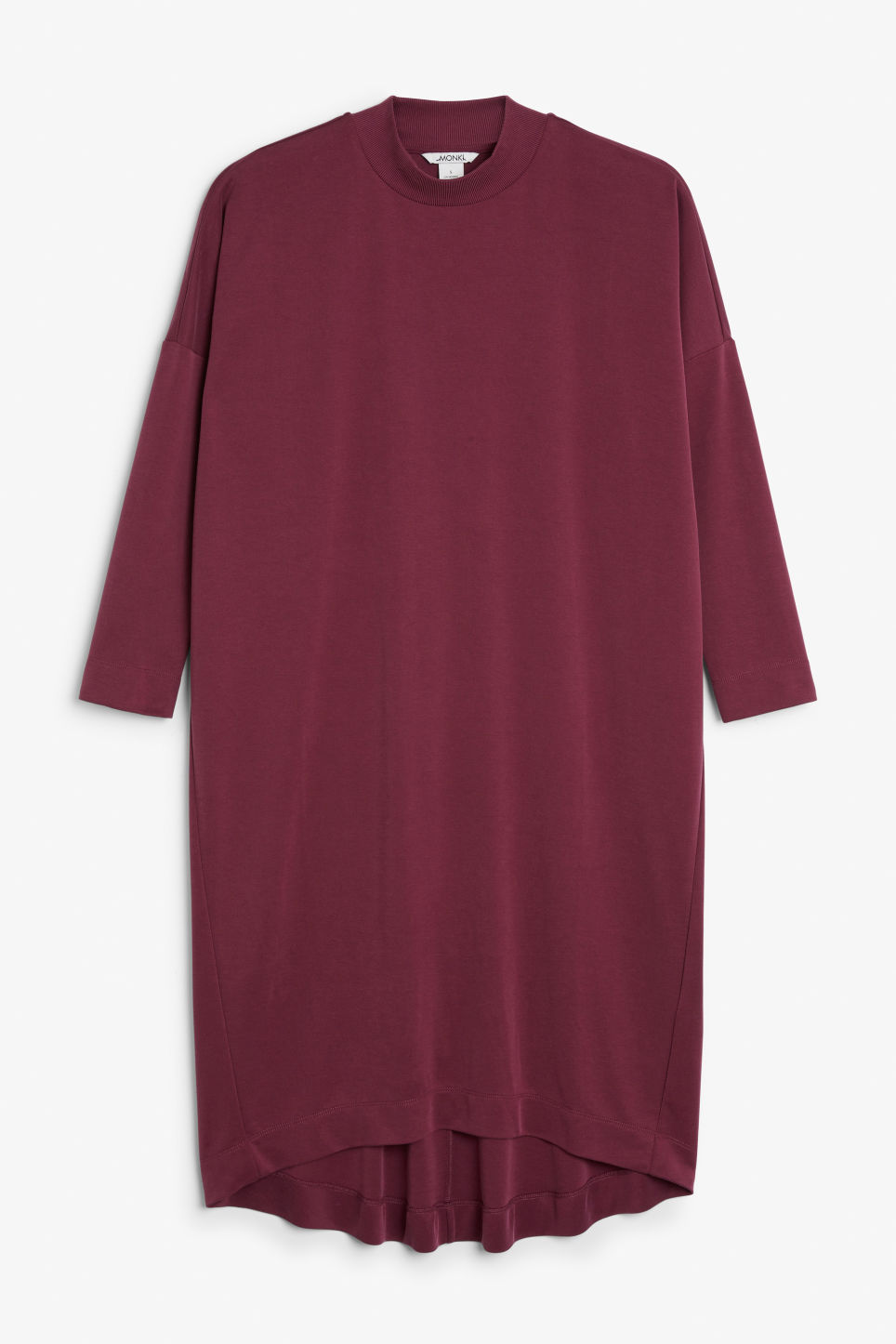 Front image of Monki soft t-shirt dress in pink