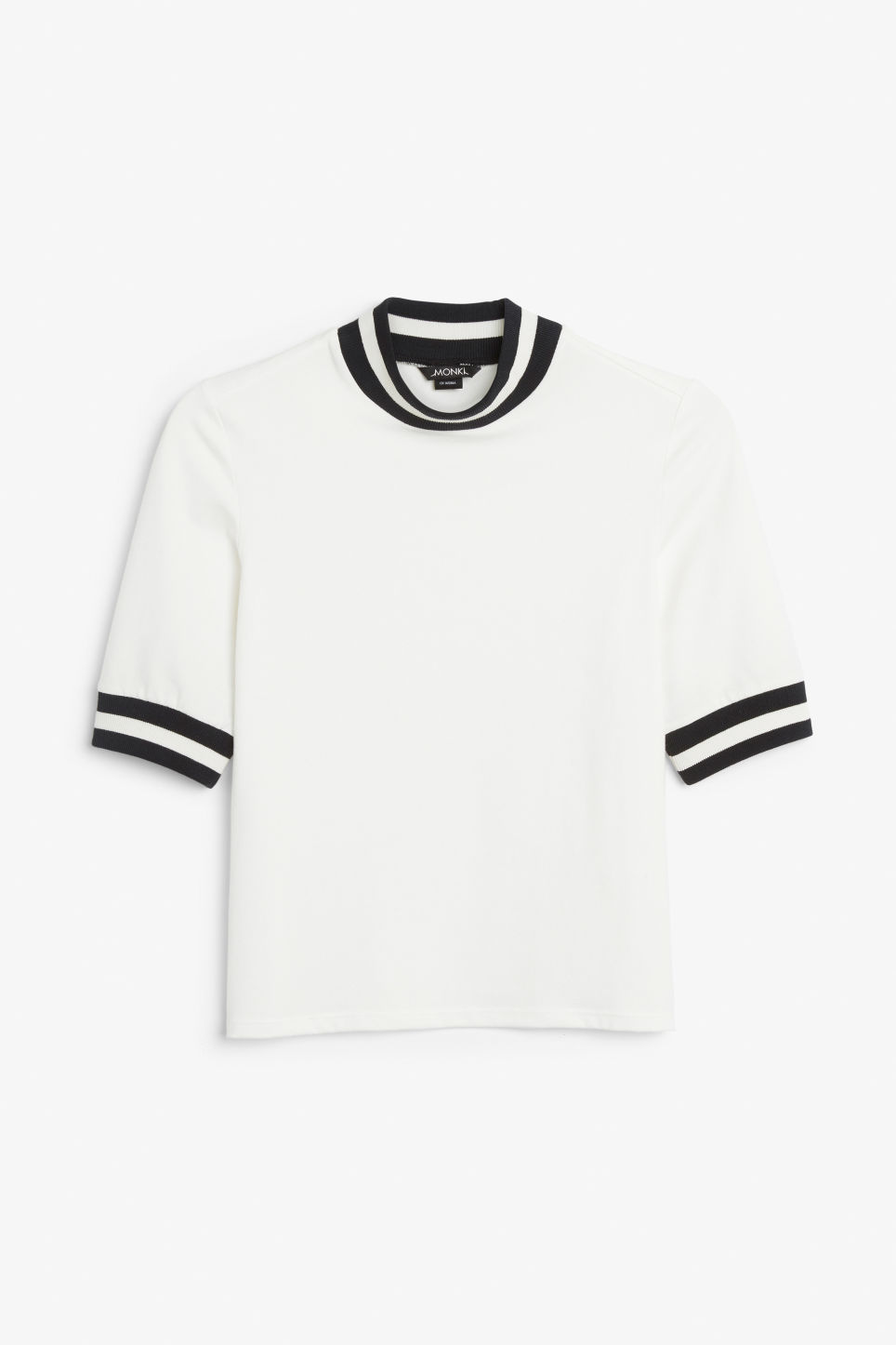 Front image of Monki turtleneck top in white