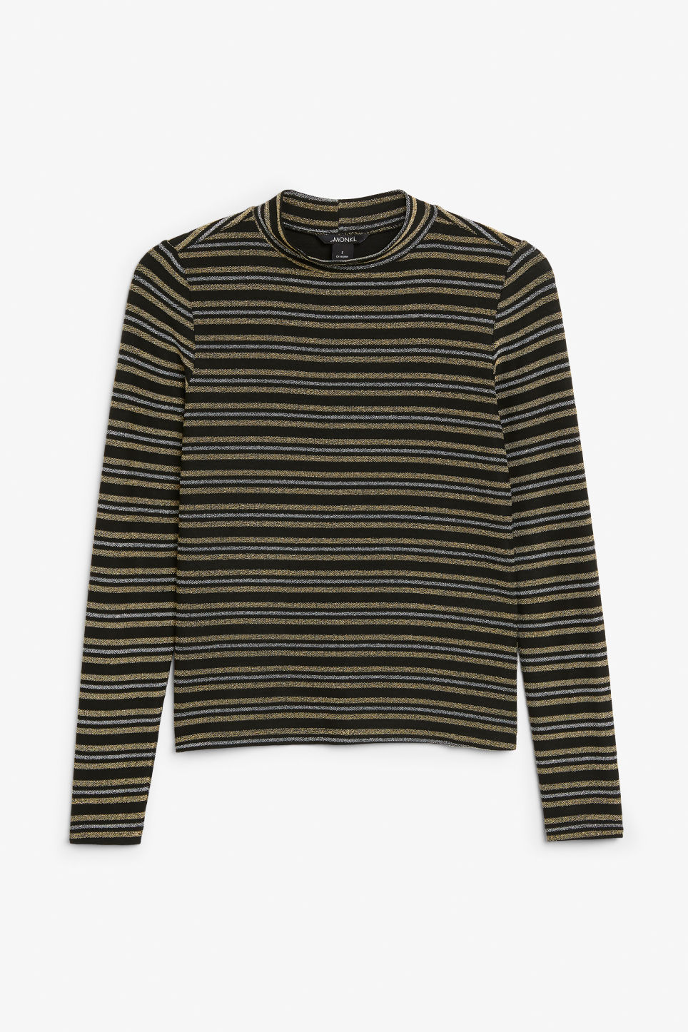 Front image of Monki turtleneck top in black