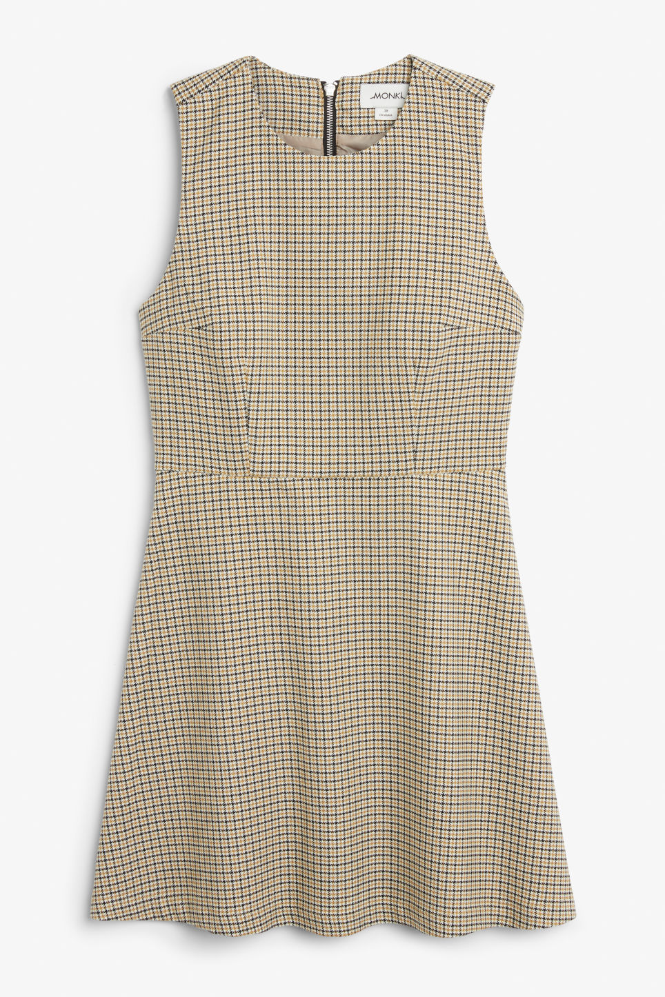 Front image of Monki sleeveless dress in yellow
