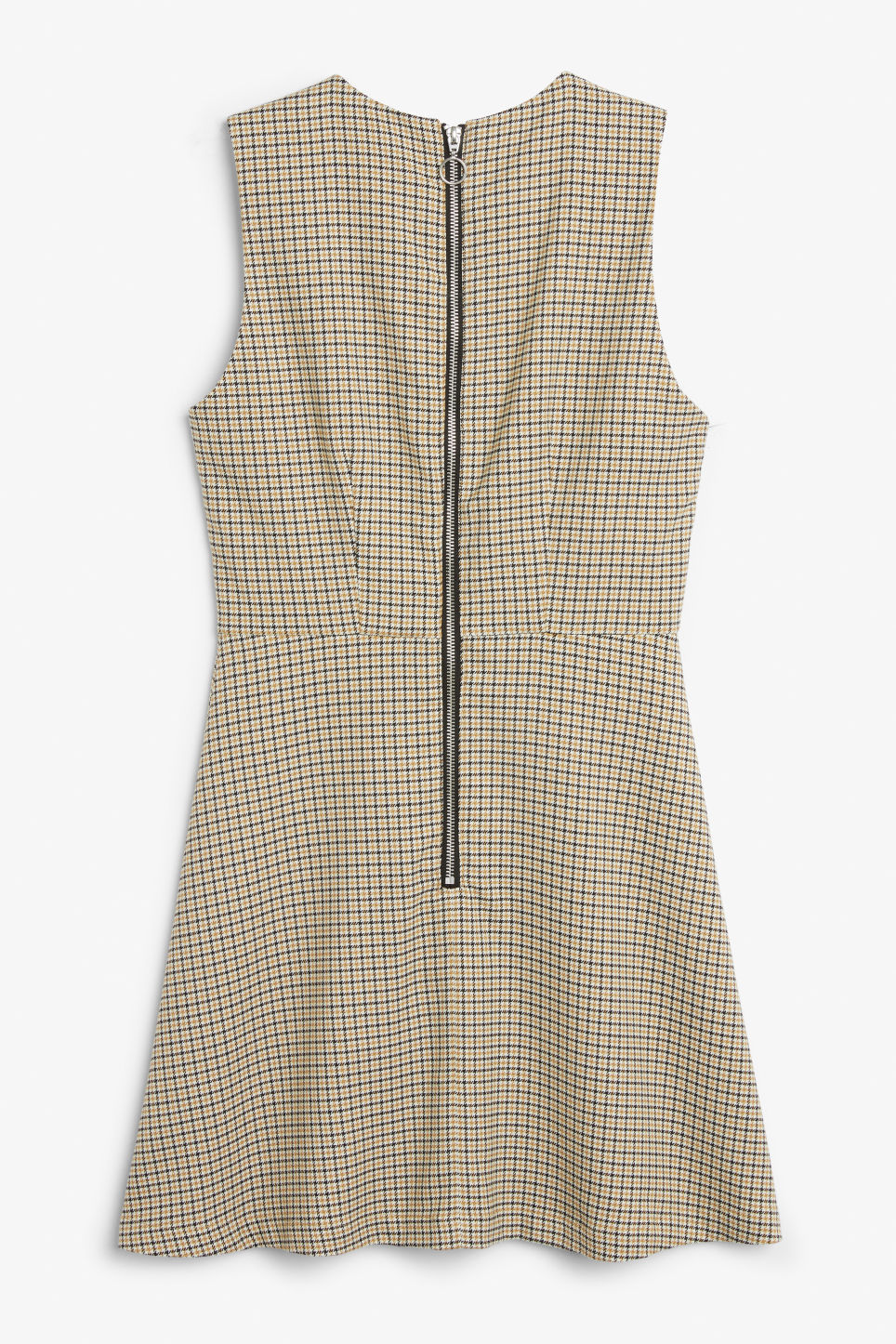 Back image of Monki sleeveless dress in yellow