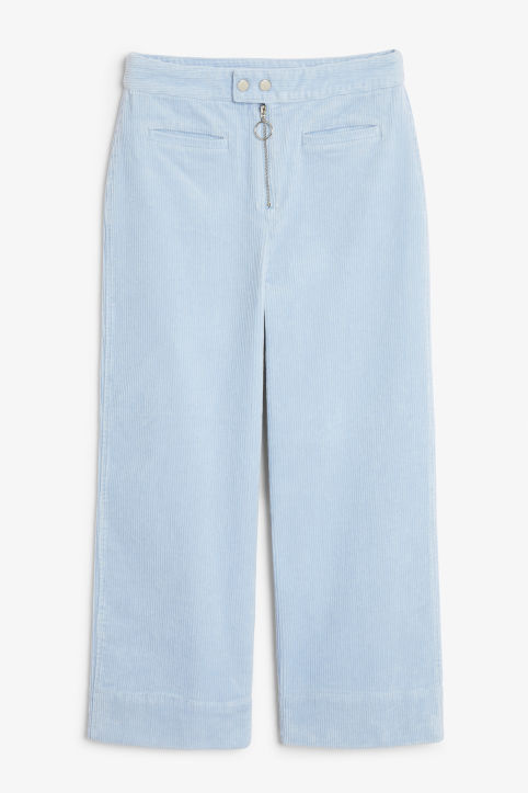 Front image of Monki dressy trousers in blue