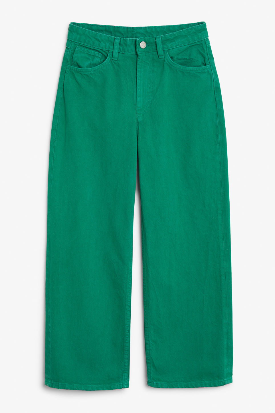 Front image of Monki mozik jeans in green