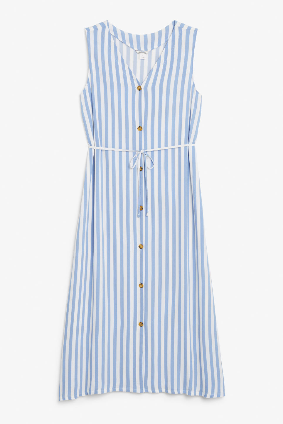 Front image of Monki flowy sleeveless dress in white