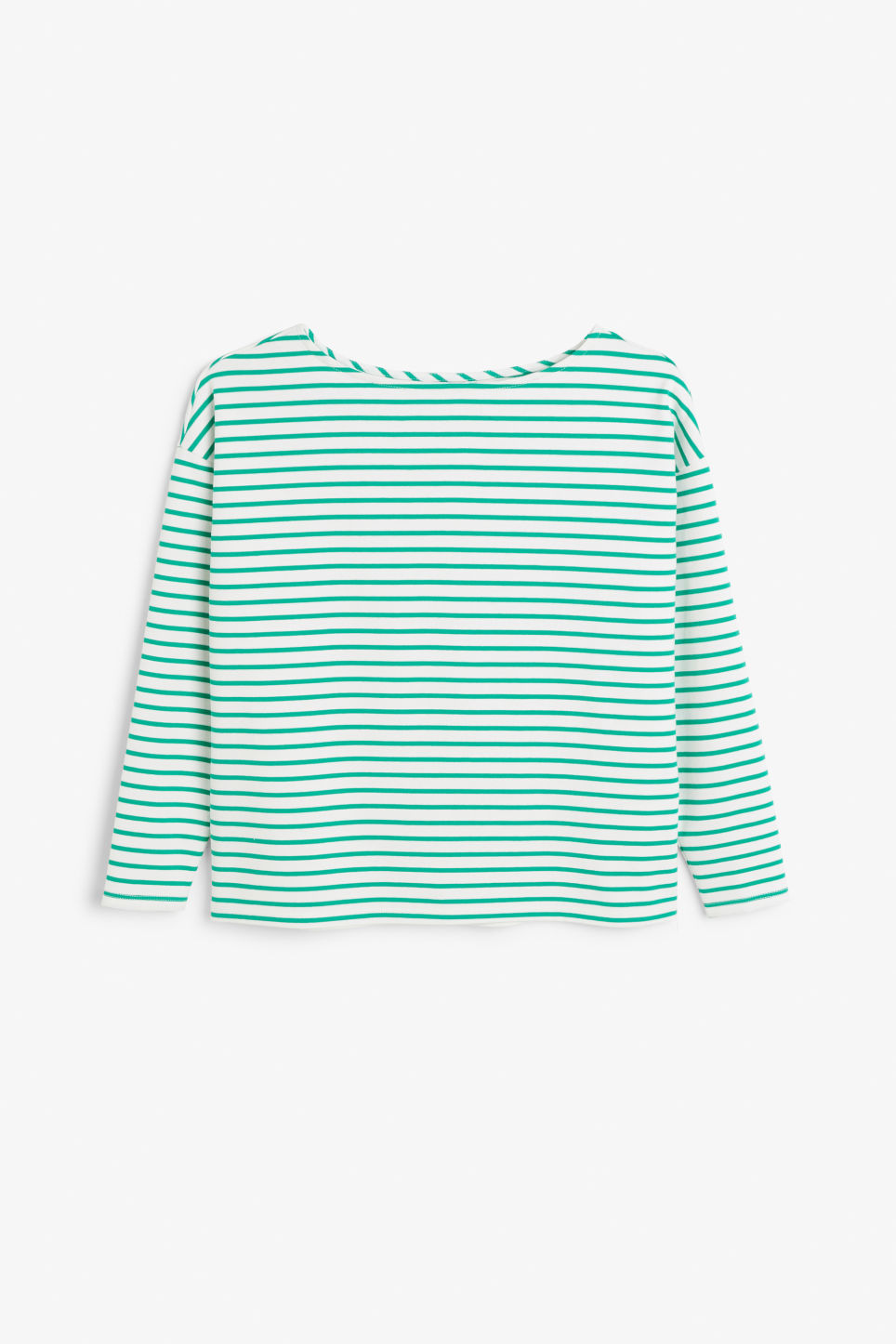 Front image of Monki boat neck top in green
