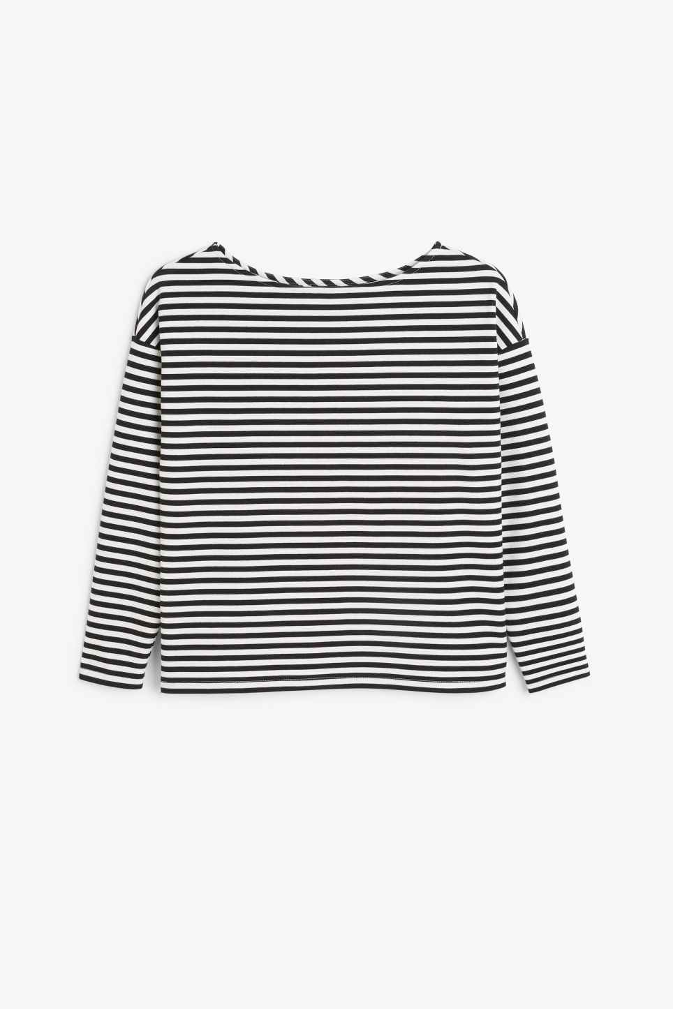 Front image of Monki boat neck top in black