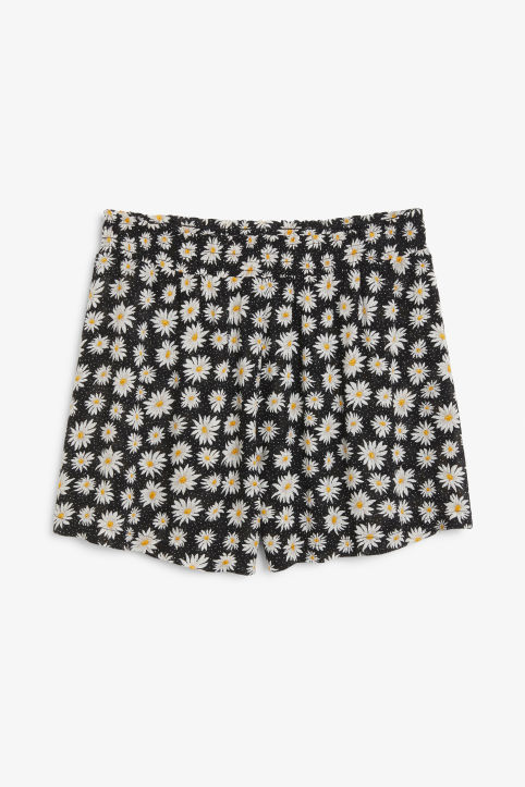 Front image of Monki soft shorts in black