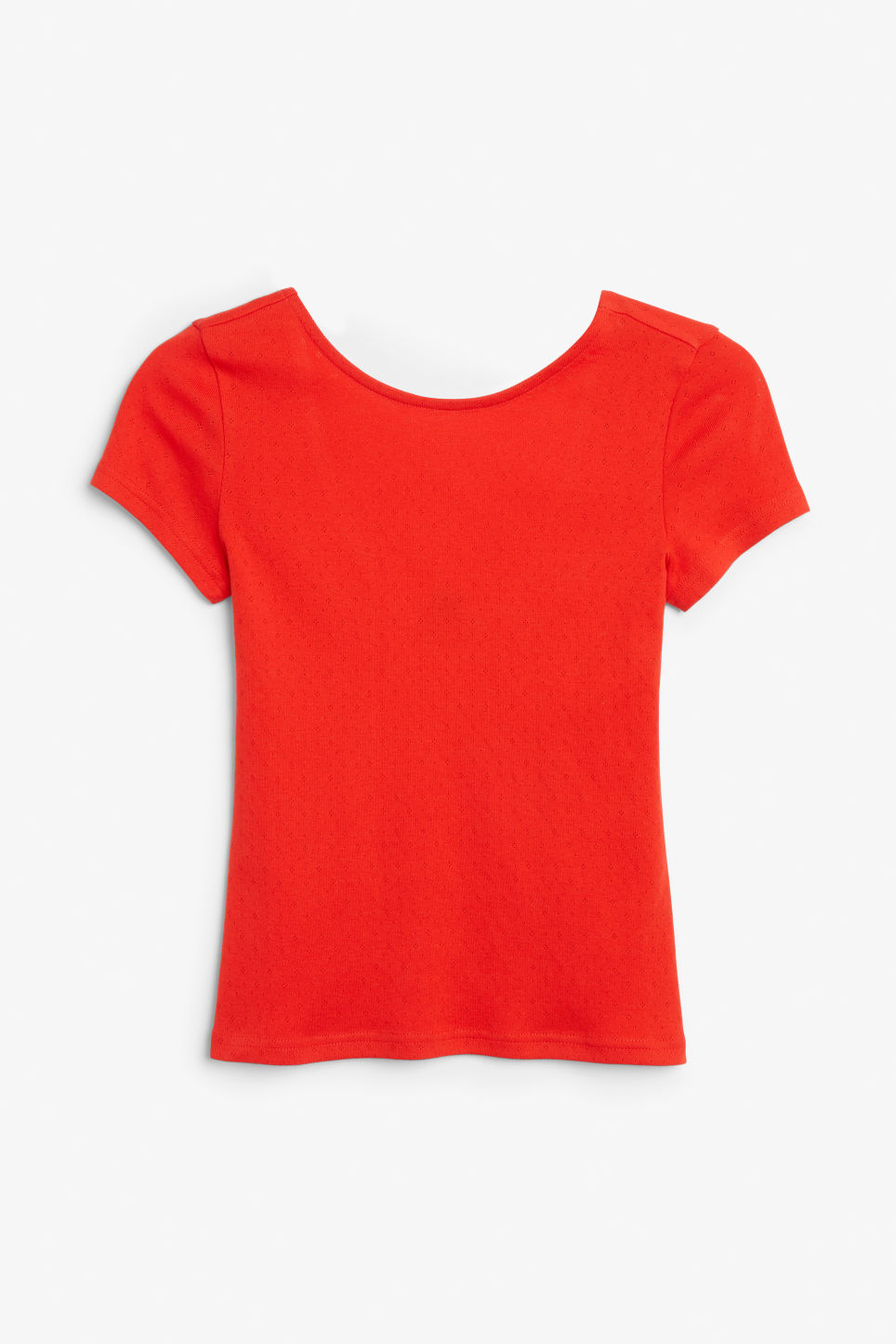 Front image of Monki cotton top in red