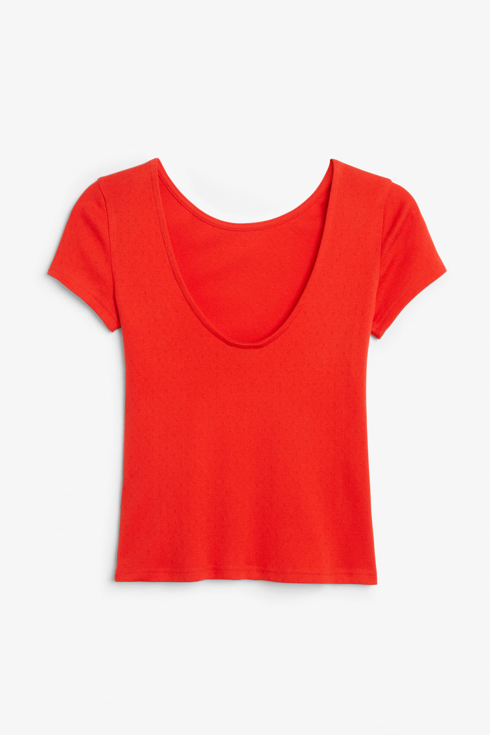 Back image of Monki cotton top in red