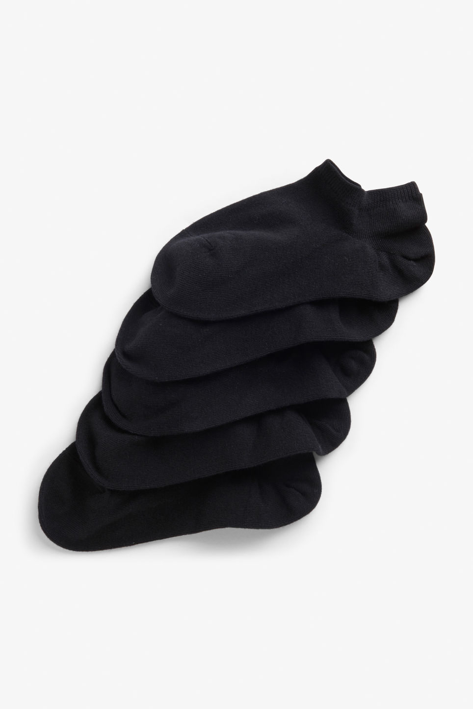Front image of Monki 5-pack sneaker socks in black