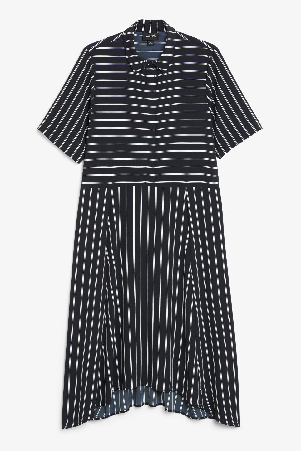 Front image of Monki maxi dress in blue