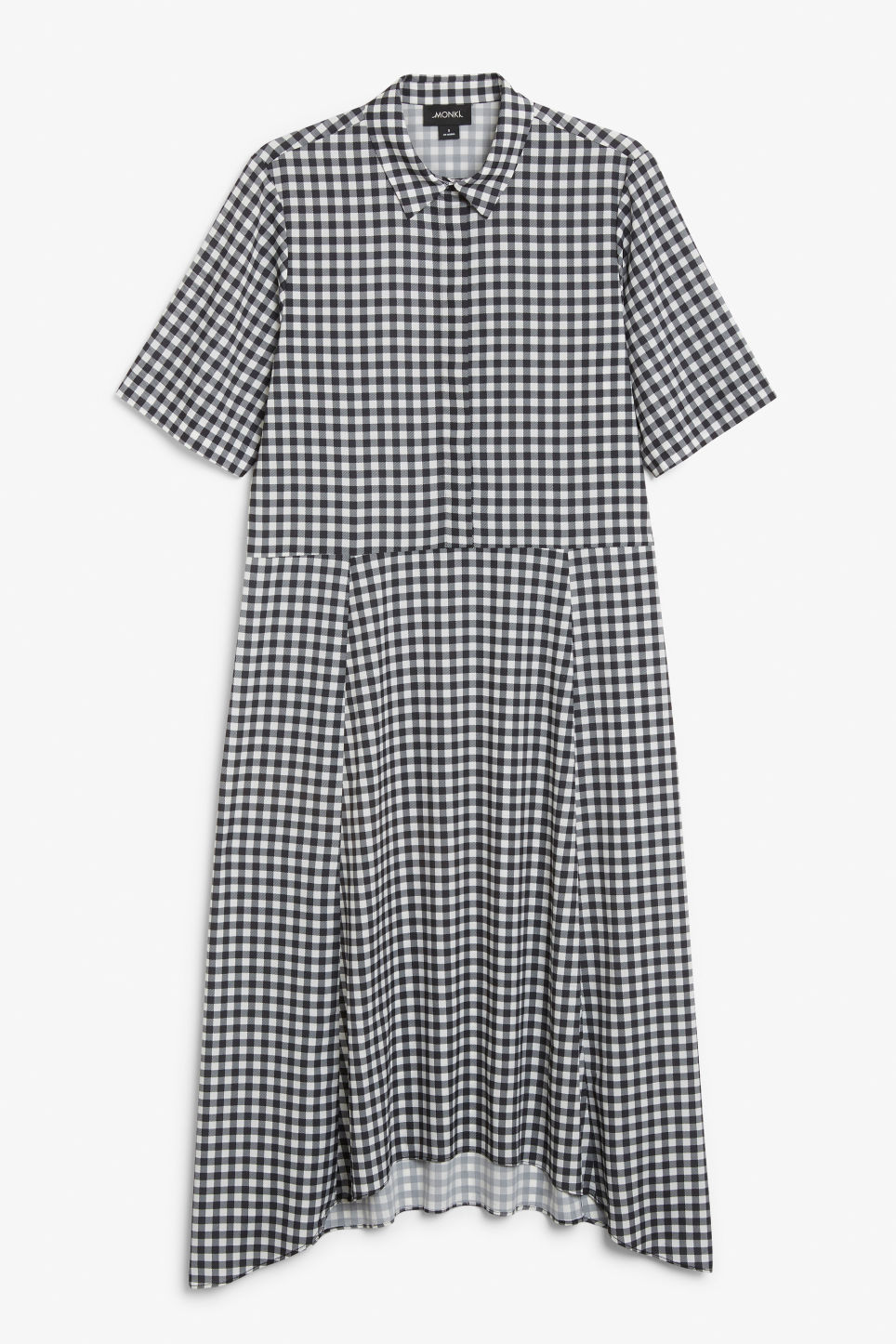 Front image of Monki maxi dress in black