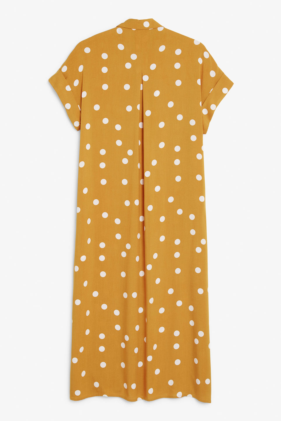 Back image of Monki long shirt dress in yellow