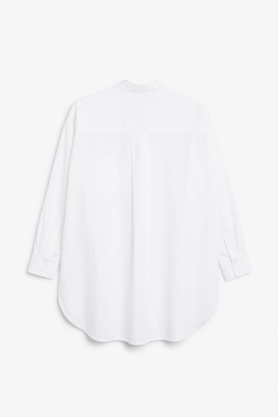 Back image of Monki oversized cotton shirt in white