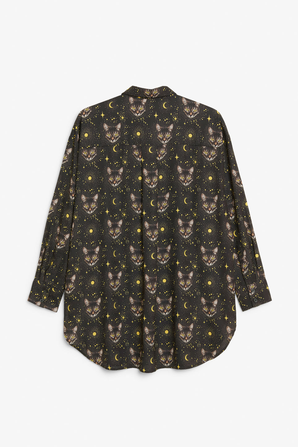 Back image of Monki oversized shirt in black