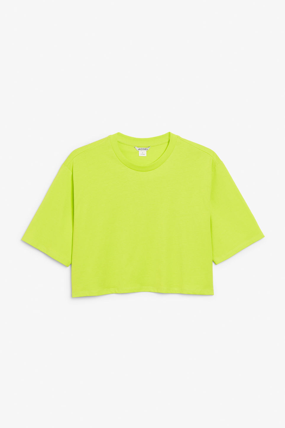 Front image of Monki cropped tee in green